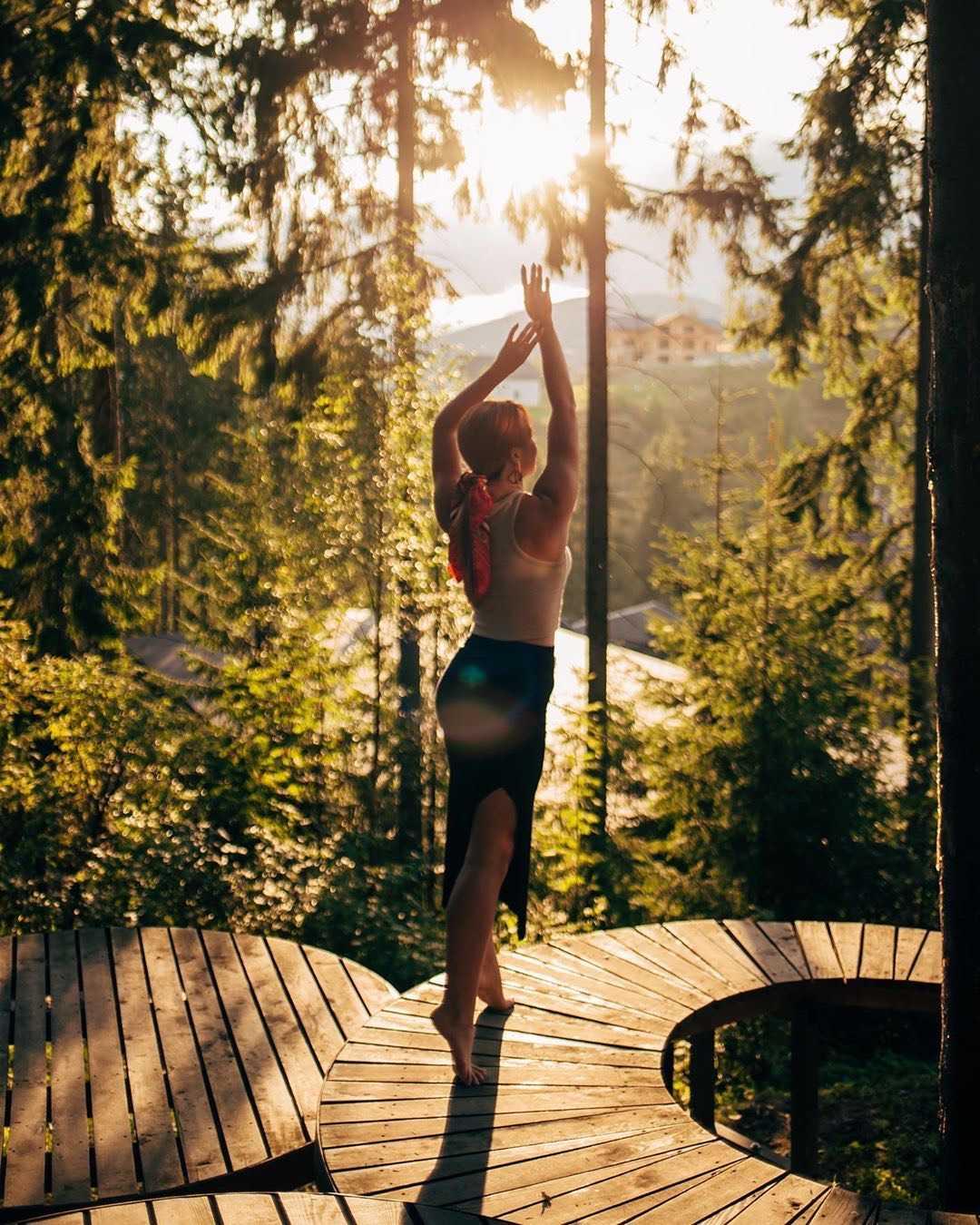 Ранкова йога в Буковелі